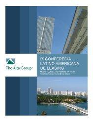 IX CONFERECIA LATINO AMERICANA DE LEASING - The Alta Group