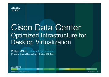 Cisco Validated Designs for Desktop Virtualization