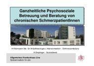 Soziale Umfeldstudie chronischer SchmerzpatientInnen - ONGKG