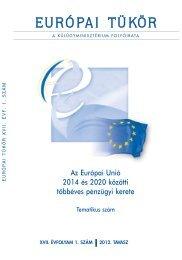 Európai Tükör 2012/01. tematikus szám