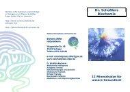 Dr. Schüßler Salze - Naturheilpraxis.Stiller