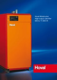 Hoval Modul-plus High-output calorifier 640 to 17,500 l/h