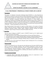 call for project proposals for funding by eamcef - Environmental ...