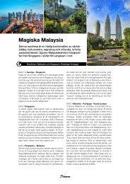 Magiska Malaysia - Solresor