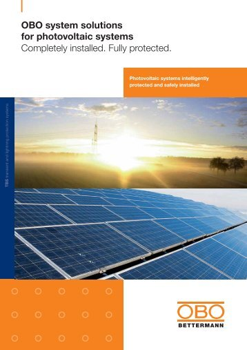 OBO system solutions for photovoltaic systems - OBO Bettermann