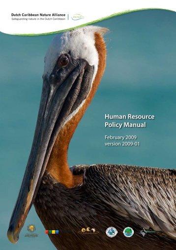 Human Resource Policy Manual - Environmental Funds Tool Kit