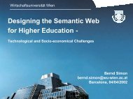 Designing the Semantic Web for Higher Education -