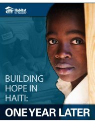 BUILDING HOPE IN HAITI: - Habitat for Humanity