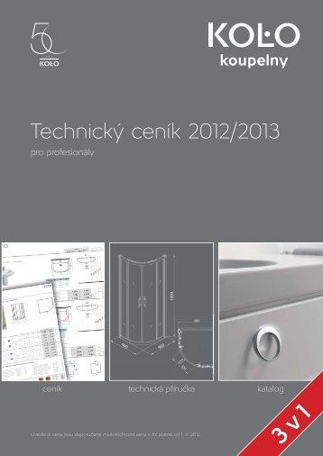 Technický ceník 2012/2013
