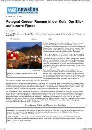 Fotograf Gereon Roemer in der Kufa: Der Blick auf bizarre Fjorde ...