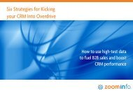 Six Strategies for Kicking your CRM Into Overdrive
