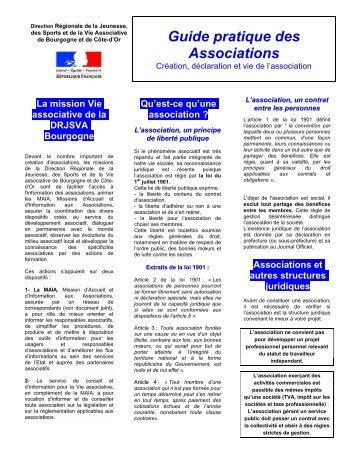 Guide pratique des Associations - Préfecture de la Côte-d'Or