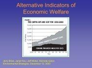 Alternative Indicators of Economic Welfare - Department of Natural ...