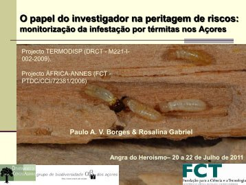 Borges, P.A.B. ; Gabriel, R._11_O papel do investigador na ... - CITA-A