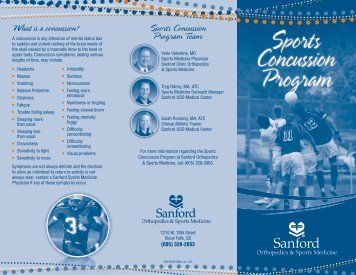 Sanford Sports Concussion Program - Sanford Health