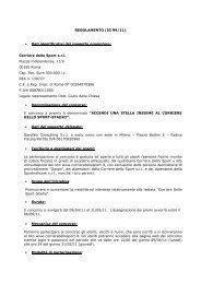 REGOLAMENTO (IG 99/11) • Dati identificativi del soggetto ...