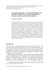 Comparing qualitative research methodologies for systemic ...