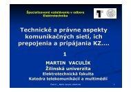 Technické a právne aspekty _01 - Katedra telekomunikácií a ...