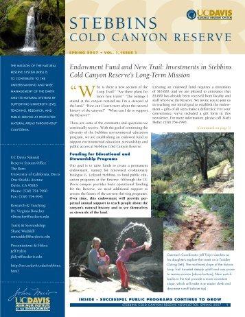 STEBBINS - UC Davis Natural Reserve System