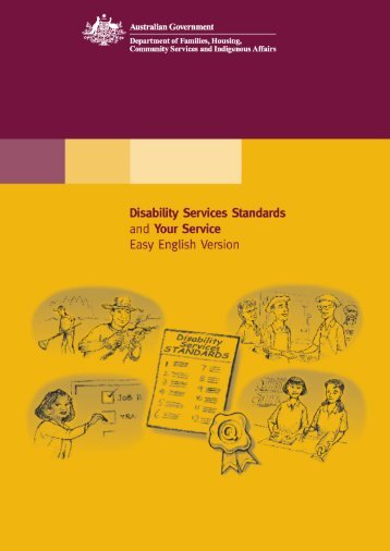 Disability Service Standards - Department of Families, Housing ...