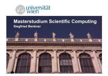 Masterinfo Scientific Computing.pdf - Universität Wien