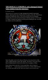 THE ROSEAU CATHEDRAL and a damaged Stained Glass window ...