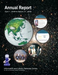 Annual Report 2008-2009.pdf - INFLIBNET Centre