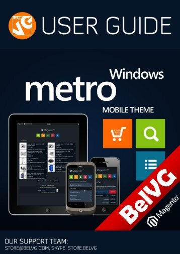 Windows Metro Mobile Theme - BelVG Magento Extensions Store