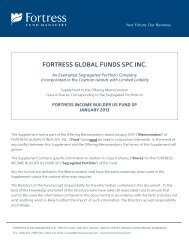 Supplement - Fortress Income Builder US Fund SP - Fortress Mutual ...