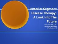 Anterior Segment Disease Therapy: A Look Into The Future