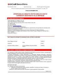 APERTURA DI CREDITO IPOTECARIA IN CONTO CORRENTE ...