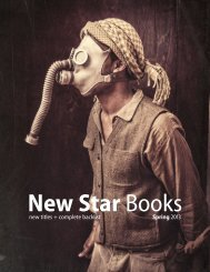 New Star Books - Spring 2013 new titles + complete backlist