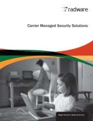 Carrier Managed Security Solutions