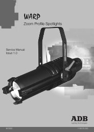 warp service manual - ADB Lighting Technologies