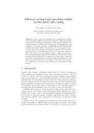 Efficiency of closed and open-loop scalable wavelet based video ...