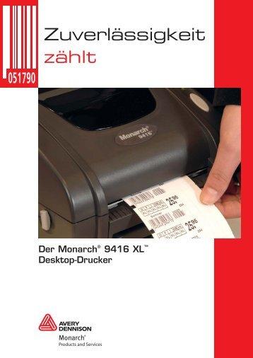 Der Monarch® 9416 XL™ Desktop-Drucker - Avery Dennison