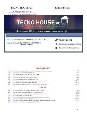 Lista de Precios - Tecno House PC