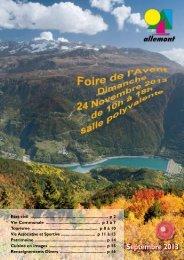Septembre 2013 - Allemont
