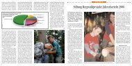 Stiftung Bergwaldprojekt: Jahresbericht 2006
