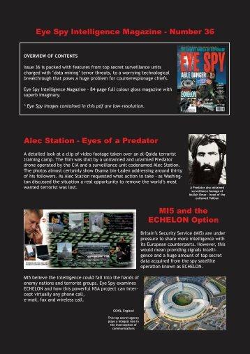 Eye Spy Intelligence Magazine - Number 36 Alec Station - Eyes of a ...