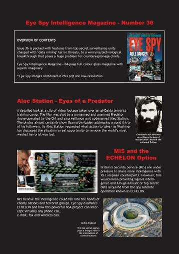 Eye Spy Intelligence Magazine - Number 36 Alec Station - Eyes of a ...