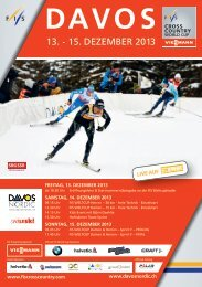 13. - 15. DEZEMBER 2013 - Davos Nordic