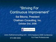 Striving for Continous Improvement by Sal Bibona - Chatham ...