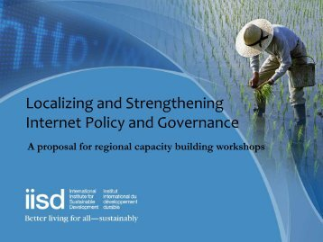 Localizing and Strengthening Internet Policy and Governance