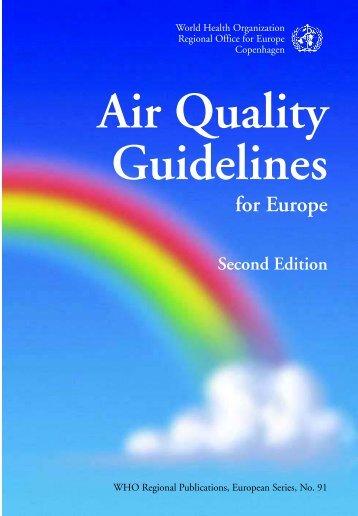 Air Quality Guidelines - World Health Organization Regional Office ...