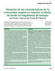 Variación de las características de la comunidad vegetal en relación ...