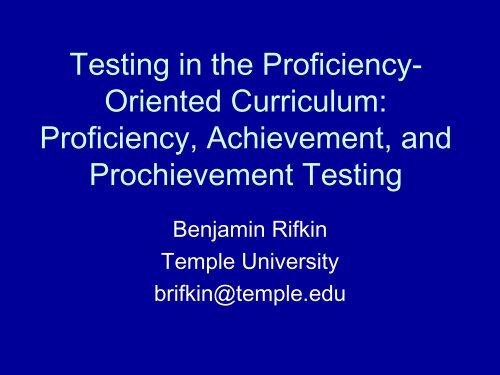 Testing 1-2-3 - UCLA International Institute