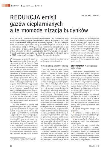 J_Zurawski_Redukcja emisji a termomodernizacja 2010 ... - Cieplej.pl