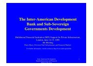 The Inter-American Development Bank and Sub-Sovereign ...