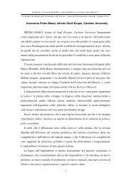 1 Intervento Pietro Masci, Istituto Studi Eurpei, Carleton University ...